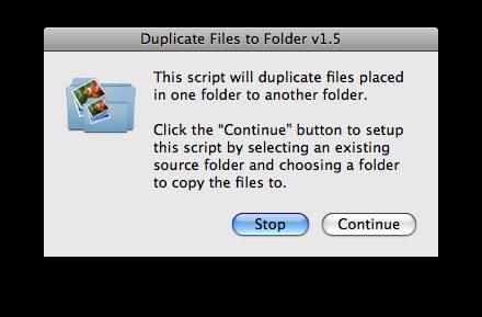 AppleScript: Duplicate Files to Folder