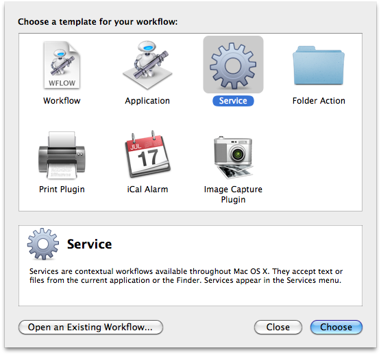 Mac OS X Automation: Services